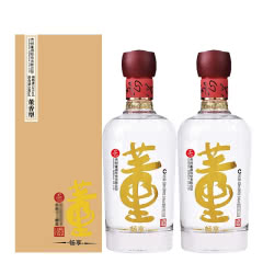 54°董酒畅享版 董香型白酒  500ML*2 双支装