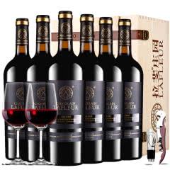 法国进口红酒拉斐庄主花园干红葡萄酒红酒整箱礼盒装750ml*6