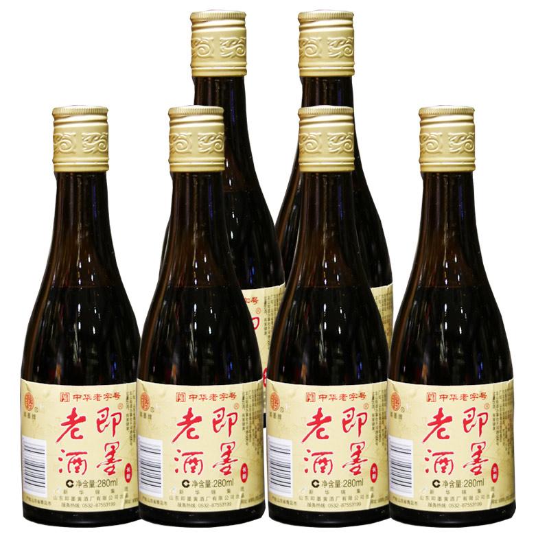 即墨黄酒11.5°即墨老酒280ml*6瓶价半甜型不含焦糖色可做阿胶药引