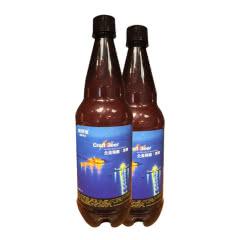 青岛崂滨澎湃海精酿啤酒1000ml*2瓶装全麦黑啤酒CraftBeer7天鲜活