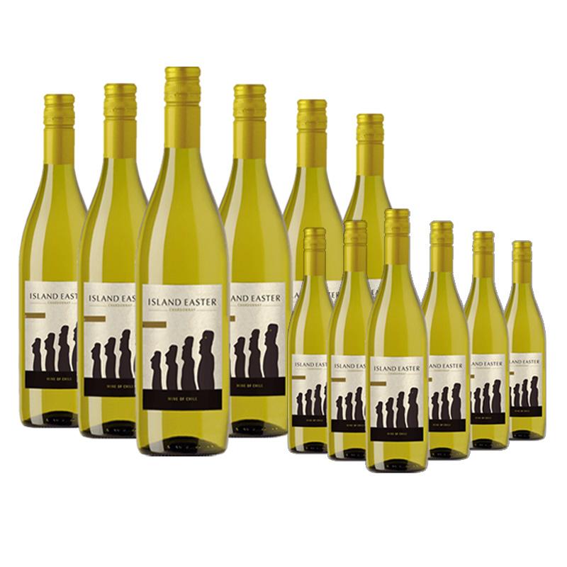 【买一赠一】智利复活节岛莎当妮白葡萄酒 2018 750ml(6瓶装)