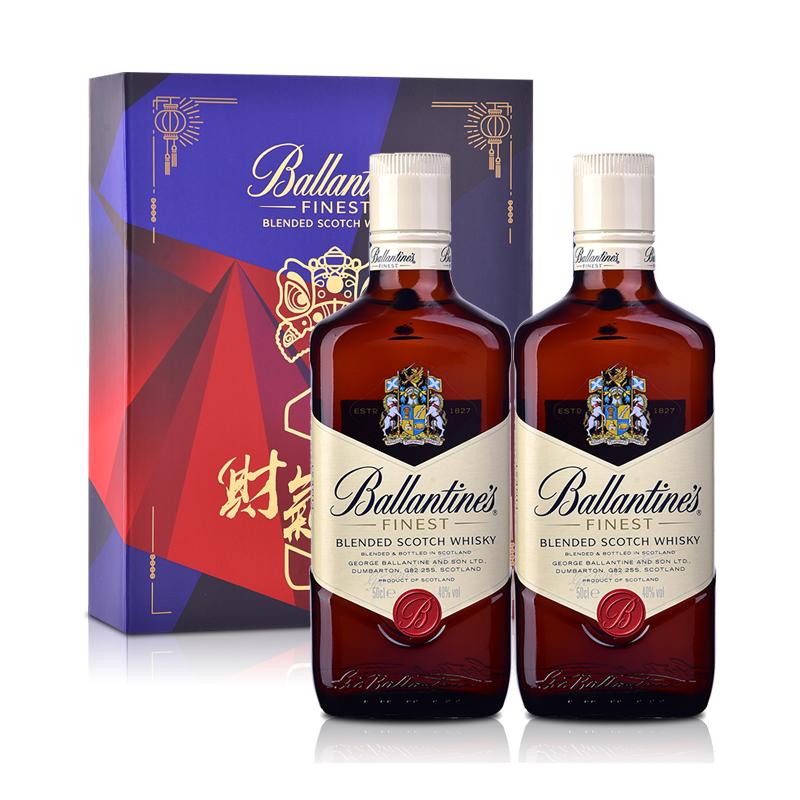 40°英国百龄坛特醇苏格兰威士忌500ml双瓶礼盒装