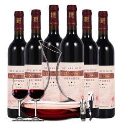 长城红酒 星级系列 干红葡萄酒三星解百纳整箱醒酒器套装750ml*6