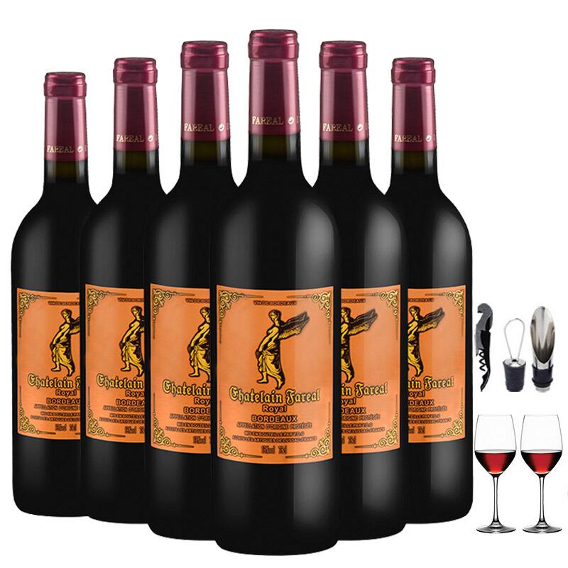 法国原装原瓶进口法莱雅城堡波尔多AOP级干红葡萄酒750ml*6