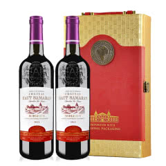 法国原瓶进口真谛堡AOC干红葡萄酒750ml*2(双支礼盒)