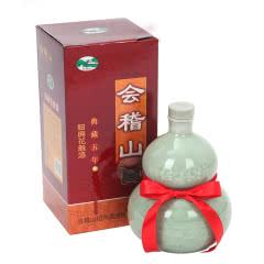 绍兴黄酒会稽山典藏五年手工糯米花雕酒500ml青瓷礼盒装葫芦原酒