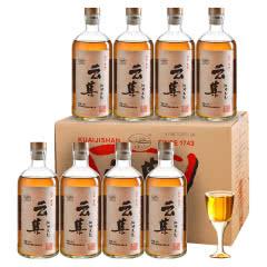 绍兴黄酒会稽山云集江湖酒不添加本色微甜花雕酒500mL*8瓶整箱
