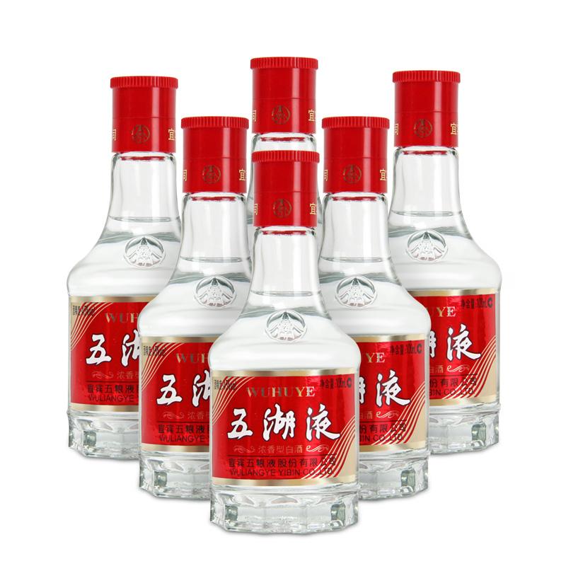 45°五粮液股份五湖液浓香型白酒100ml(6瓶装)