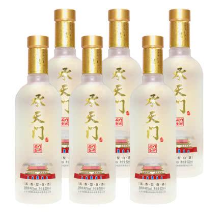北京华都出品 承天门内部品鉴酒 酱香型白酒 43度磨砂瓶 500ML*6瓶 整箱