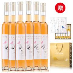 慕拉(MOULA)玫瑰酿冰酒女士葡萄酒甜型甜红酒颜值6支礼盒装整箱 375ml*6支