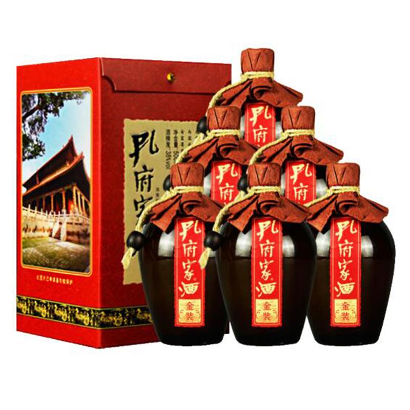 38°孔府家酒金装 500ml(6瓶装)