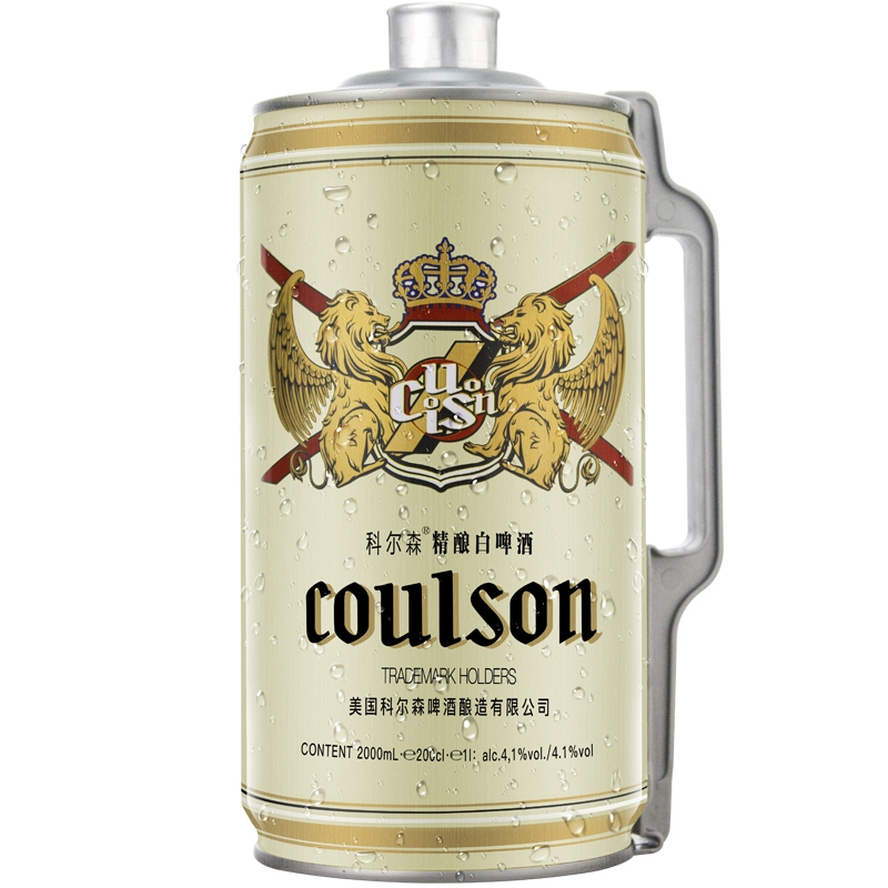 科尔森精酿白啤酒2000mL(桶装)