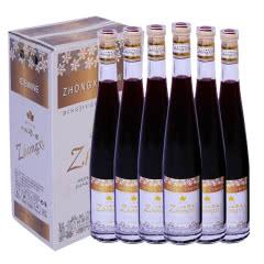 12°长白山中禧冰酒 冰红葡萄酒女士甜酒非香槟375ml(6瓶)