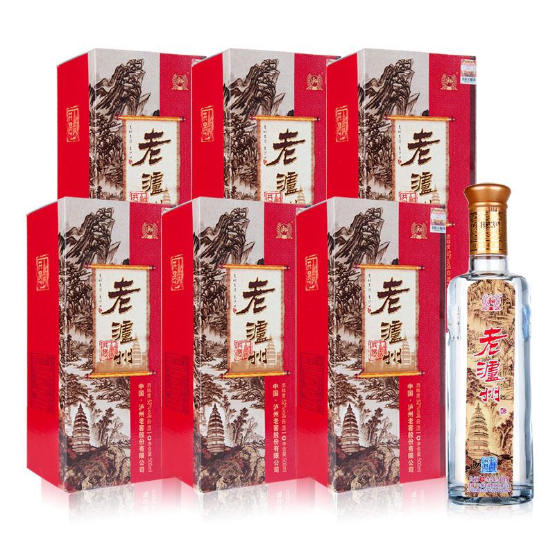 52°泸州老窖股份老泸州共赏浓香型白酒500ml*6(整箱)