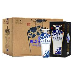 河南特产白酒 赊店老酒 青花瓷元青花52度浓香型白酒500ml 6瓶整箱装