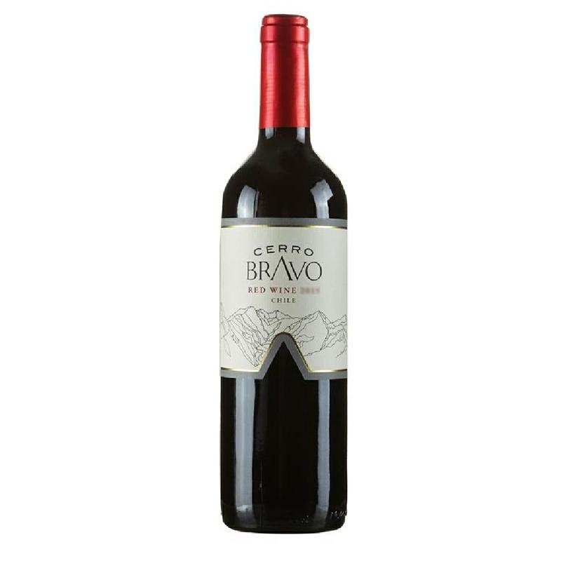 智利进口红酒原瓶山丘干红葡萄酒750ml