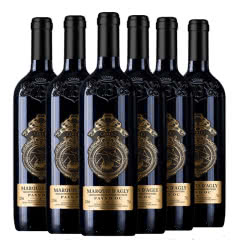 法国原瓶原装进口红酒 浮雕干红葡萄酒重型瓶750ml*6瓶