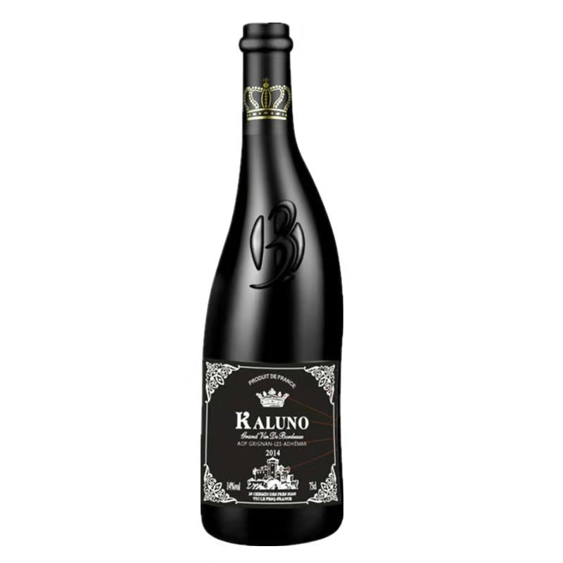 法国原瓶进口红酒AOP级异形瓶歪脖子红酒塞申特干红葡萄酒750ml