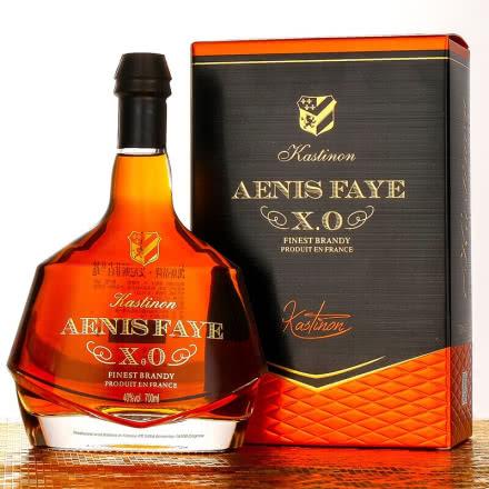 40°法国洋酒(原瓶进口)艾尼斯菲白兰地XO礼盒装700ml
