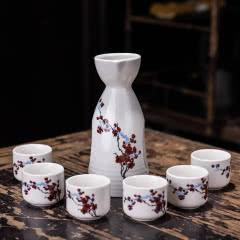 陶瓷家用白酒黄酒日式仿古酒具酒壶套装酒瓶酒壶七件套特价