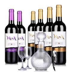 西班牙诺爱德金标干红葡萄酒750ml*4+西班牙诺爱德紫标干红葡萄酒750ml *2