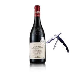 法国原瓶进口13.5度AOC级得拉图干红葡萄酒送海马刀750ml*1