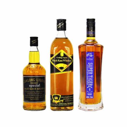40°高朗(GAOLANG)洋酒【3瓶组合装】威士忌 狮王+卡沙款+琥牌威士 700ml