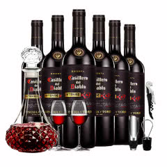 干露红魔鬼 智利原瓶进口红酒 黑金浓郁珍藏红葡萄酒 750ml *6瓶 整箱装