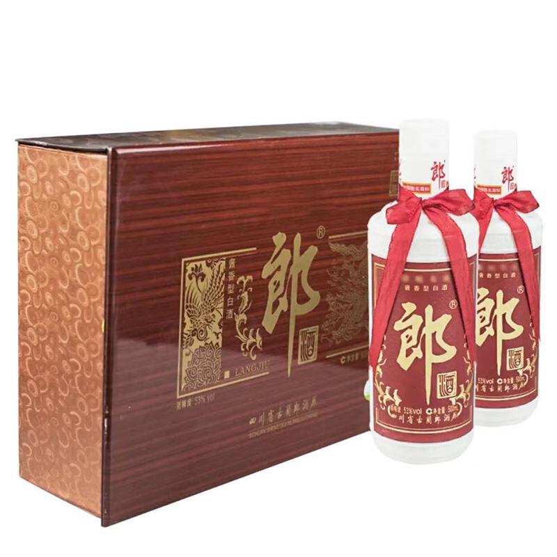 融汇陈年老酒 53度郎酒前程似锦礼盒装500mlx2瓶装(2007年)
