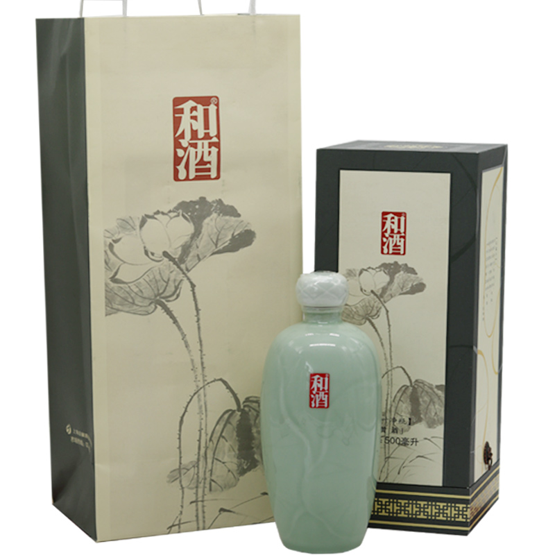 上海黄酒15°和酒荷叶净瓶500ml礼盒装单盒价