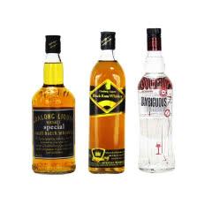 高朗40度洋酒暧昧伏特加+卡莎+狮王 700ml*3瓶组合