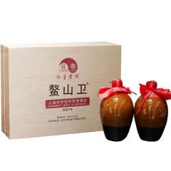 即墨老酒11.5°鳌山卫黄酒450ml*2坛手提礼盒甜型黄酒不含焦糖色单盒价