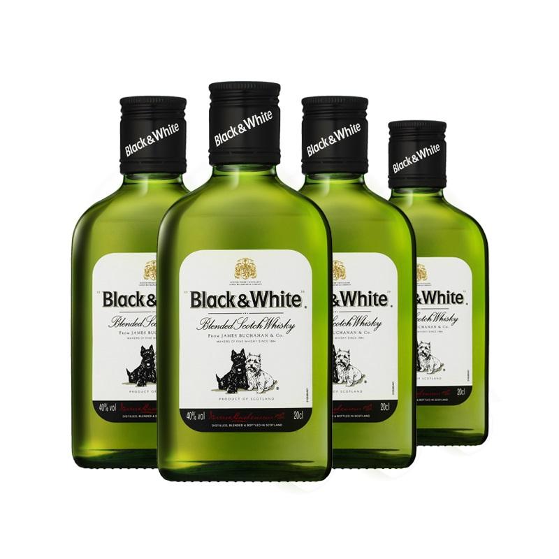 40°黑白狗调配型苏格兰威士忌200ml(4瓶装)