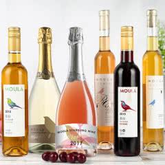 【6种口味+1香槟杯】慕拉起泡酒气泡冰酒白葡萄酒甜型甜酒贵腐果酒莫斯卡托女士低度甜红酒