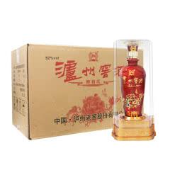 52°泸州窖酒醉禧庆水晶盒浓香型高度白酒500ml*6瓶(整箱)