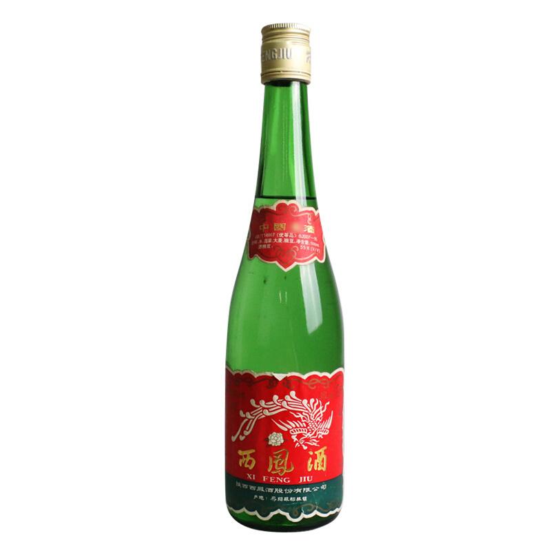 55度 西凤酒 经典老西凤绿瓶 陈年老酒 收藏酒 单瓶装2000-2005年生产