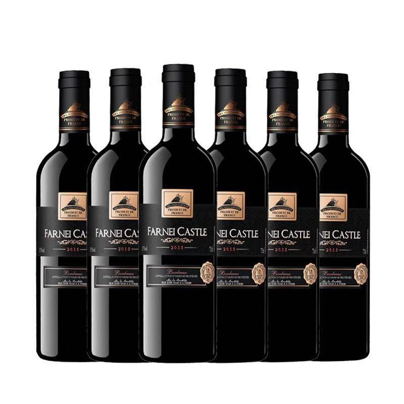 法国原瓶进口红酒波尔多AOP方尼堡1987干红葡萄酒红酒整箱750ml *6
