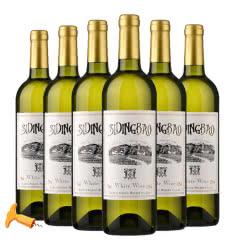 法国进口干白赛丁堡雷司令干白葡萄酒750ml*6