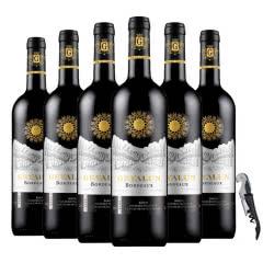 法国(原瓶进口)AOC级德拉·菲尔品牌美乐干红葡萄酒红酒整箱750ml*6