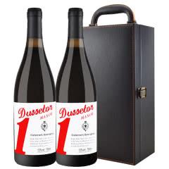 澳大利亚原酒进口红酒 1号庄橡木桶干红葡萄酒 750ml*2 礼盒装