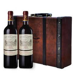 法国进口路易拉菲红酒原装正品原瓶进口干红葡萄酒中秋礼盒装2支