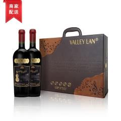 智利原瓶进口红酒双支特级珍藏干红葡萄酒2支礼品高档礼盒装双支