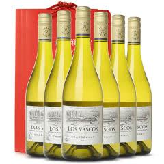 【拉菲正品 ASC防伪】拉菲巴斯克霞多丽干白葡萄酒 智利原瓶进口 整箱六支750ml*6