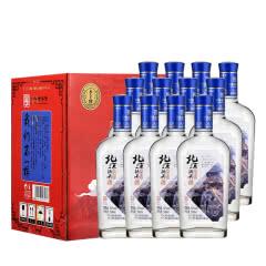 42°永丰牌北京二锅头白酒经典小扁瓶纯粮酒永丰二锅头香型白酒致敬北漂500ml(12瓶装)