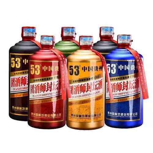 【团酒师】贵州酱香型白酒整箱特价53度封存老酒500ml*6瓶酒水