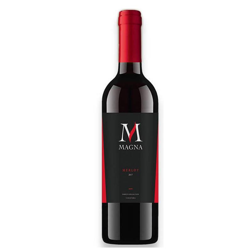 智利中央山谷原瓶进口红酒麦格纳梅乐干红葡萄酒750ml