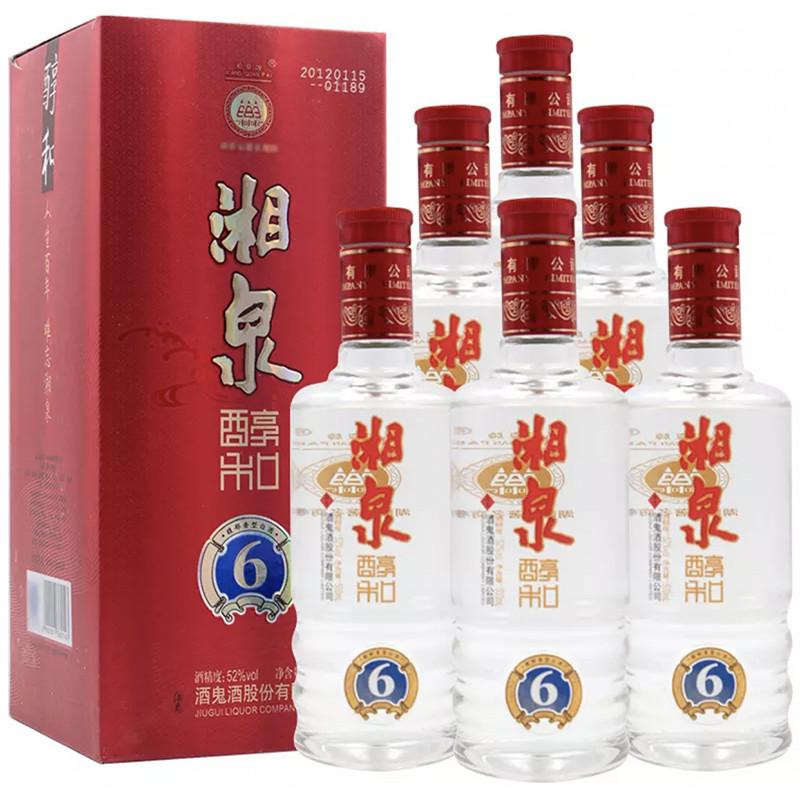 融汇陈年老酒 52°酒鬼酒 湘泉醇和酒500mlx6瓶(2012年)