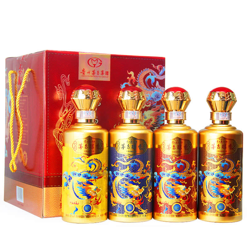 52度贵州茅台酒厂集团技术开发公司 茅台醇香珍藏级N50 柔雅浓香型白酒 500ml*4