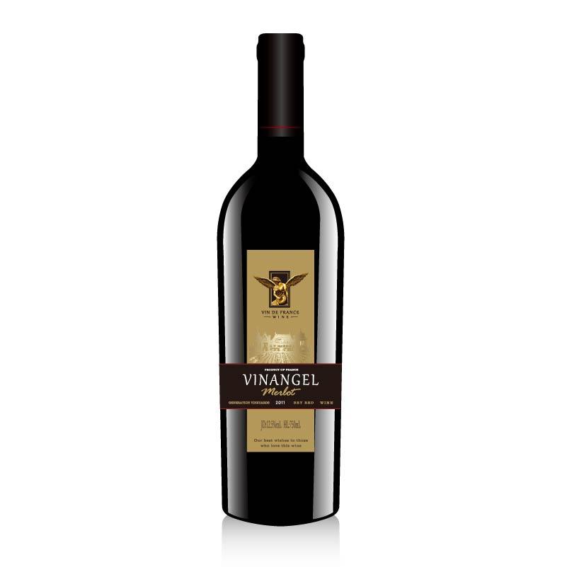 法国进口红酒天使VDF级别干红葡萄酒750ml