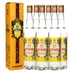 【京东配送】53°金门高粱酒 黄金龙台湾白酒500ml(6瓶装)